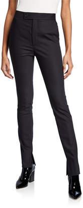 Helmut Lang Polished Cotton Legging Pants