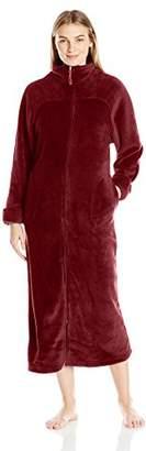 """Casual Moments Women's 52"""" Breakaway Zip Front Robe"""
