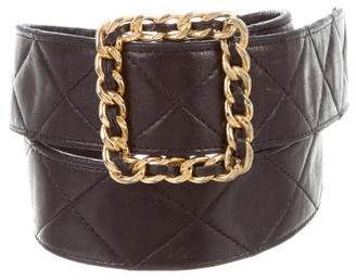 Chanel Quilted Leather Vintage Belt