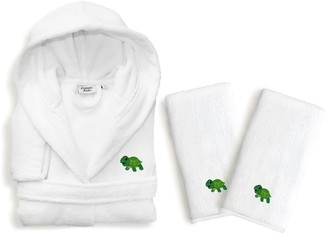 Linum Kids Home Textiles Turtle 3-piece Terry Hooded Bathrobe & Hand Towel Set