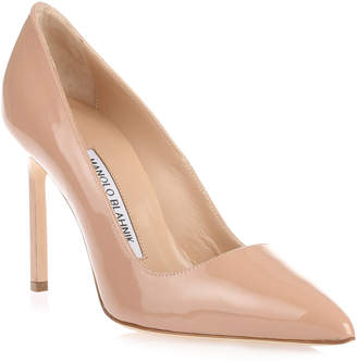 Manolo Blahnik BB105 patent nude pumps