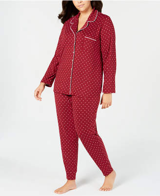 Alfani Plus Size Notch Neck Pajama Set, Created for Macy's
