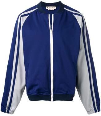 Marni contrast sleeve jacket