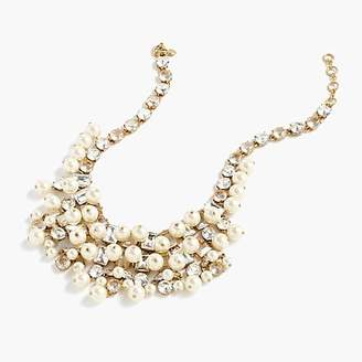 J.Crew Crystal and pearl statement necklace