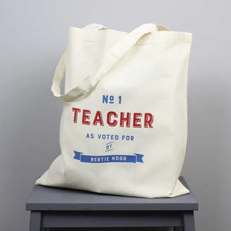 XOXO Personalised 'Number One Teacher' Tote Bag