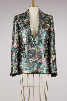 MSGM Lurex floral jacquard Blazer