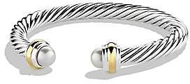 David Yurman Women's Cable Classics Bracelet with Pearls and Gold