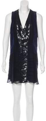 Diane von Furstenberg Sleeveless Silk Mini Dress