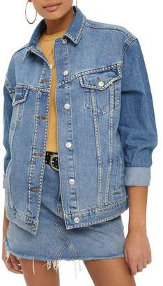 Topshop Studded Denim Jacket