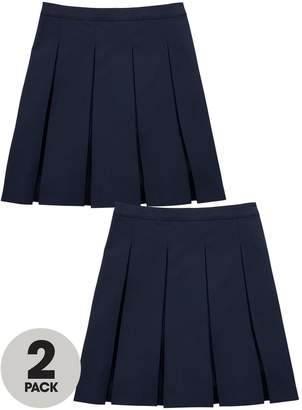 Very Girls 2 Pack Classic Pleated Woven School Skirts