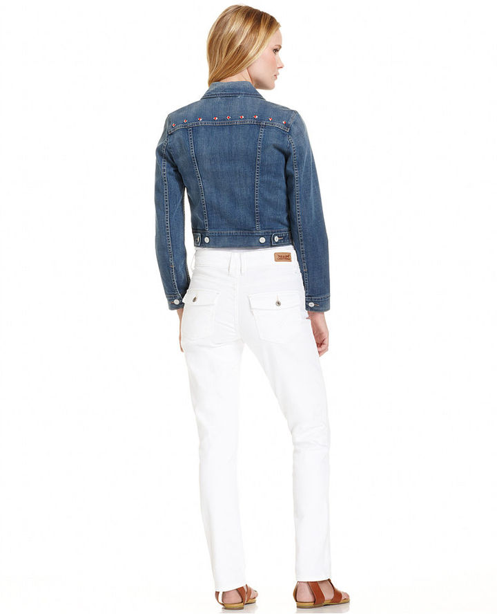 Levi's Jacket, Denim Studded, Bright Skies Wash