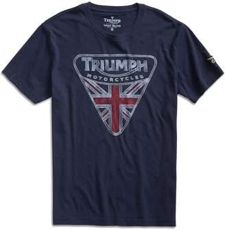 Lucky Brand Men's - Navy Triumph British Flag Badge T-Shirt