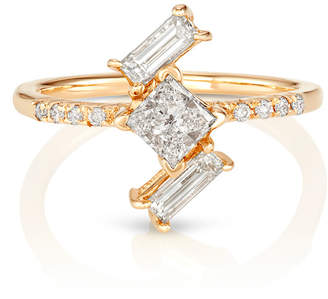 S/H Koh 14k Gold & Baguette Diamond Yours Only Ring