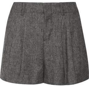 Alice + Olivia Eloise Pleated Woven Shorts