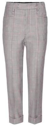 Miu Miu Cropped check trousers