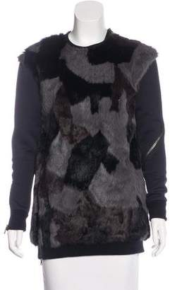 3.1 Phillip Lim Patchwork Fur Sweatshirt