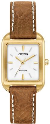Citizen Eco-Drive Women's Silhouette Leather Watch - EM0492-02A