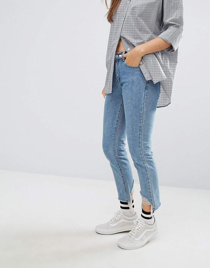 STYLE NANDA STYLENANDA Distressed Raw Hem Jeans