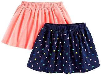 Carter's Simple Joys by Baby Girls' Toddler 2-Pack Knit Scooters (Skirt with Built-in Shorts)