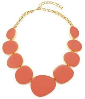 Kenneth Jay Lane 22K Gold-Plated Geometric Bib Necklace