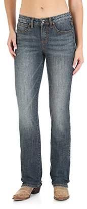 Wrangler Women's Size Aura Plus Instantly Slimming Mid-Rise Jean