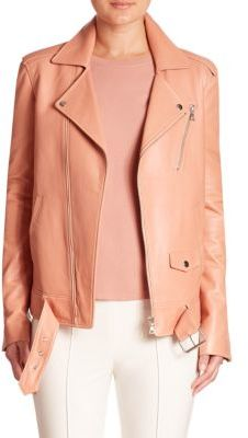 Theory Tralsmin Leather Moto Jacket $1,395 thestylecure.com