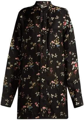 Haider Ackermann Floral-print satin shirt