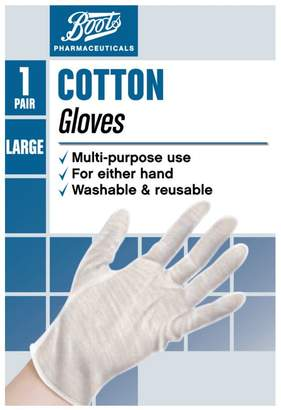 Boots Cotton Gloves- Large (1 Pair)