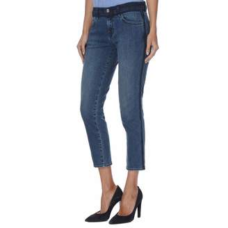 Point Blank Blue Sadey Mid Rise Straight Jeans