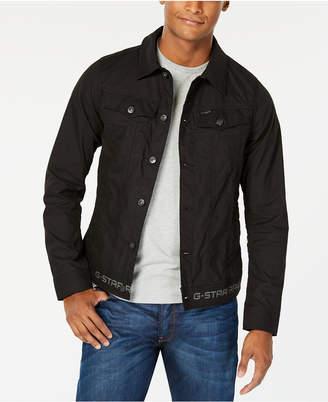 G Star Men's Slim-Fit Black Denim Jacket