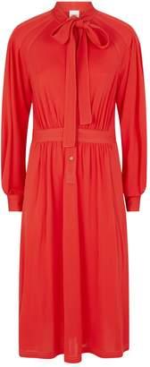 Burberry Self-Tie Midi Dress