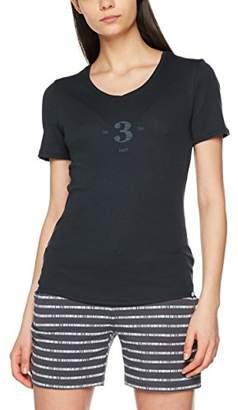 Schiesser Women's Shirt 1/2 Arm Long-Sleeved T-Shirt