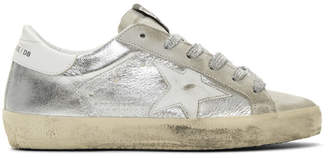 Golden Goose SSENSE Exclusive Silver Metallic Superstar Sneakers