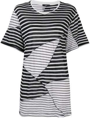 Diesel oversized striped T-shirt