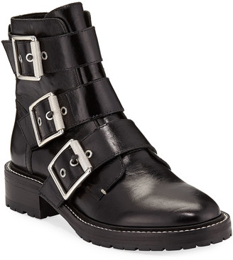 Rag & Bone Cannon Leather Buckle Boots