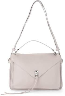 Rebecca Minkoff Darren Messenger Grey Leather Handbag