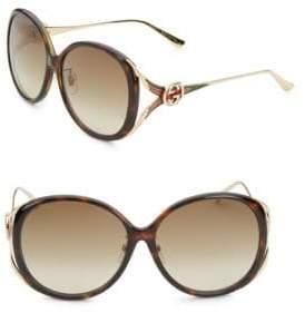 Gucci 60MM Oval Sunglasses