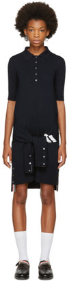 Thom Browne Navy Two-in-One Cardigan & Polo Dress $1,390 thestylecure.com