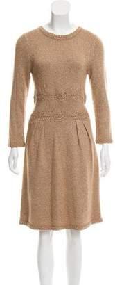 Alberta Ferretti Knit Metallic Dress