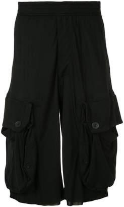 Julius draped pocket shorts