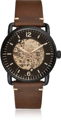 Fossil Commuter Automatic Brown Leather Men's Watch