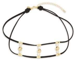 Swarovski Crystal 18K Gold & Sterling Silver Necklace