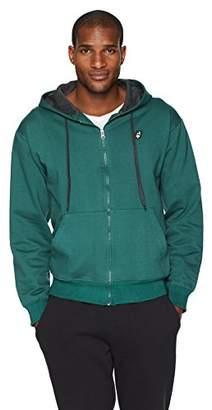 Flying Ace Men's Full-Zip Fleece Long Sleeve Hooded Sweatshirt with Embroidered Logo