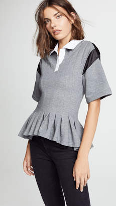Koche Pleated Polo Shirt