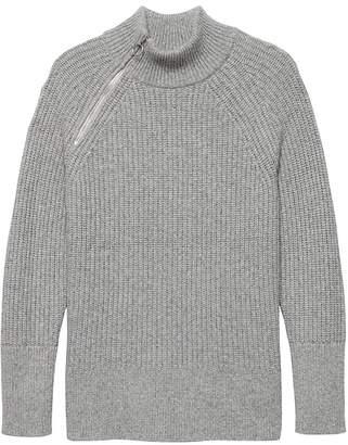 Banana Republic Side-Zip Mock-Neck Sweater