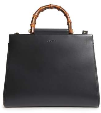 Gucci Medium Angel Leather Top Handle Satchel