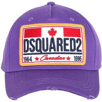 DSQUARED2 Canadian Flag Patch Cotton Baseball Hat