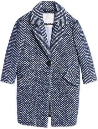Burberry herringbone tailored coat