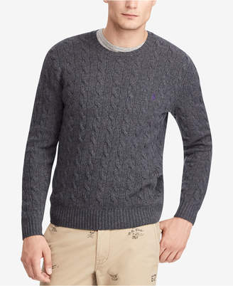 Polo Ralph Lauren Men Cashmere Wool Blend Cable-Knit Sweater