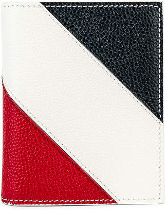 Thom Browne Billfold With Coin Compartment Wallet in White   FWRD